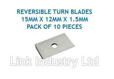 15 x 12 x 1.5mm CARBIDE REVERSIBLE TURN BLADES REVERSIBLE TIP KNIVES 10 pces