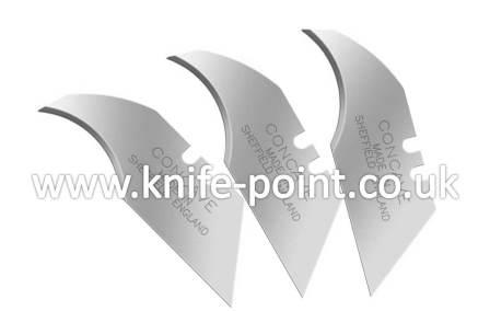 100 X Heavy Duty Concave Blades 2 Notch In Paper Tucks