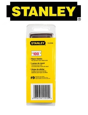 100 x Original Stanley 11-515A Single Edge Blades / Single Edge Scrapers