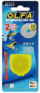 RB28 - pack of 4 pieces of original Olfa 28mm rotary blades
