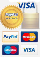 PayPal, Google Checkout, debit or credit card - you can use any of these ways to pay for your order